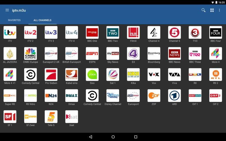 Lista de canales de IPTV