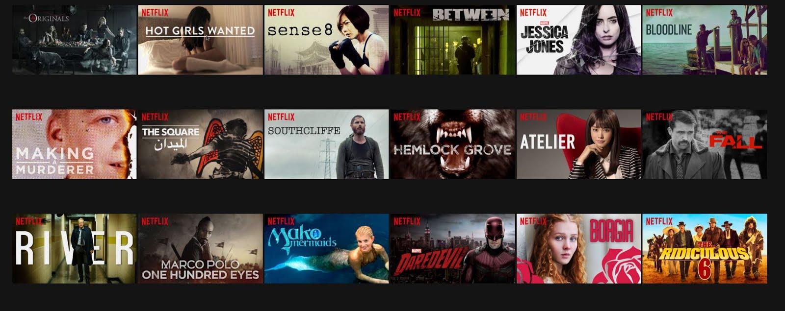 Las películas y series mejor calificadas en Netflix