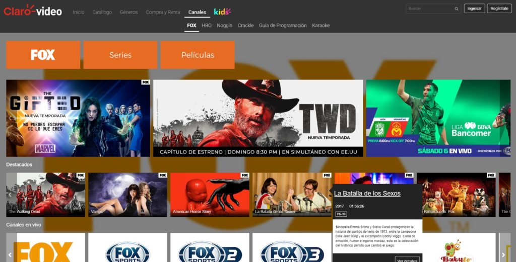 fox play claro video